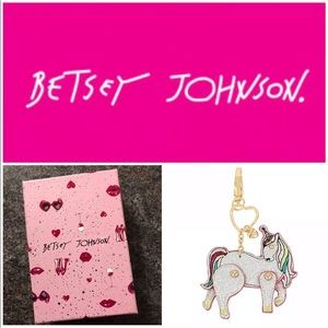 Betsey Johnson Moving Unicorn Key Fob